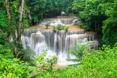 Huai Mae Kamin, beautiful waterfall Stock Image