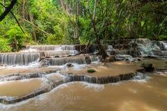 Huai Mae Kamin, bella cascata Fotografie Stock