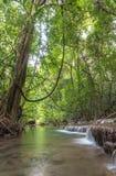 Huai Mae Kamin vattenfallSrinakarin fördämning i Kanchanaburi arkivfoton