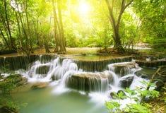 Huai Mae Kamin waterfall Royalty Free Stock Photo