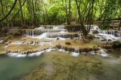 Huai Mae Kamin Waterfall in Kanchanaburi,Thailand Stock Photos