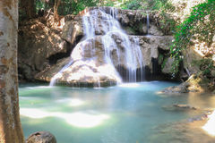 Huai Mae Kamin waterfall stock image