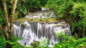 Huai Mae Kamin Waterfall. Main level of Huai Mae Kamin Waterfall in Kanchanaburi Province, Thailand Stock Images