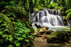 Huai Mae Kamin Waterfall. Main level of Huai Mae Kamin Waterfall in Kanchanaburi Province, Thailand Royalty Free Stock Photo