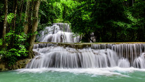 Huai Mae Kamin Waterfall. Main level of Huai Mae Kamin Waterfall in Kanchanaburi Province, Thailand Stock Photo