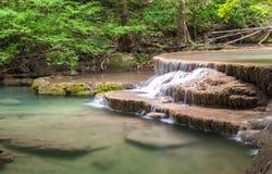 Huai Mae Kamin waterfall Srinakarin Dam in Kanchanaburi stock photos