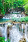 Landscape Huai Mae Kamin waterfall stock images