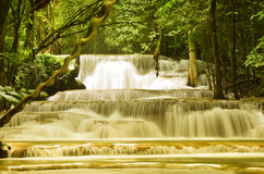 Huai Mae Kamin Waterfall - thail Images stock