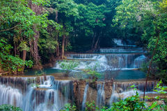 Huai Mae Kamin Waterfall Royalty Free Stock Images
