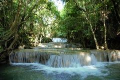 Huai Mae Khamin Wasserfall Lizenzfreies Stockbild