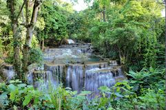 Huay Mae Khamin Waterfall,  a beautiful waterfall in Kanchanaburi province,thailand     Royalty Free Stock Photography