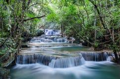 Huai Mae Khamin Waterfall. Is a beautiful waterfall at Khuean Srinagarindra National Park, Kanchanaburi Thailand Royalty Free Stock Photo