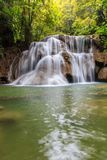 Huai Mae Khamin waterfall in deep forest Stock Photo