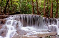 Huai Mae Khamin Waterfall Kanchanaburi Imagen de archivo libre de regalías
