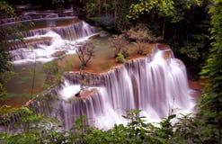 Huai Mae Khamin Waterfall Kanchanaburi Foto de archivo