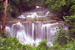 Huai Mae Khamin Waterfall Kanchanaburi Imagen de archivo