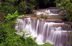 Huai Mae Khamin Waterfall Kanchanaburi Fotos de archivo libres de regalías