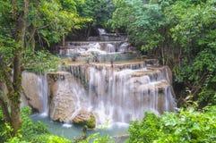 Huai Mae Khamin Waterfall. Kanchanaburi province Thailand Stock Photography