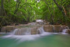 Huai Mae Khamin Waterfall. Kanchanaburi province Thailand Royalty Free Stock Images