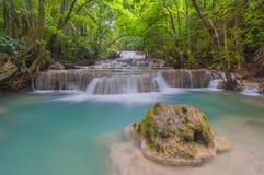 Huai Mae Khamin Waterfall. Kanchanaburi province Thailand Stock Image