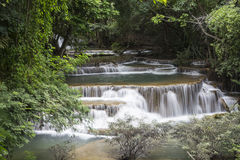 Huai Mae Khamin waterfall in Kanchanaburi Royalty Free Stock Images