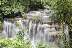 Huai Mae Khamin waterfall in Kanchanaburi Royalty Free Stock Image