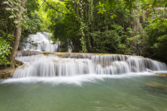 Huai Mae Khamin waterfall in Kanchanaburi Royalty Free Stock Photos