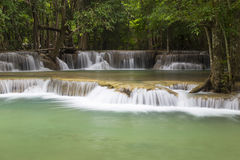 Huai Mae Khamin waterfall in Kanchanaburi Stock Photography