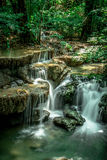 Huai Mae Khamin Waterfall. In the mountainous Khuan Si Nakharin National Park, is located in Amphone Sai Yok and Amphoe Thong Pha Phum in the province of stock photography