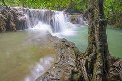 Huai Mae Khamin Waterfall. Second floor of Huai Mae Khamin Waterfall, Kanchanaburi Thailand Stock Image