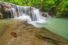 Huai Mae Khamin Waterfall. Second floor of Huai Mae Khamin Waterfall, Kanchanaburi Thailand Royalty Free Stock Image