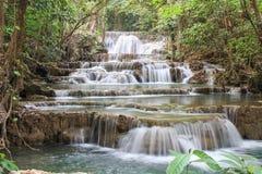 Huai Mae Khamin Waterfall Thailand arkivfoton