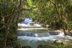 Huai Mae Khamin Waterfall Thailand Arkivbild