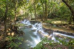 Huai Mae Khamin Waterfall Thailand Royaltyfri Fotografi
