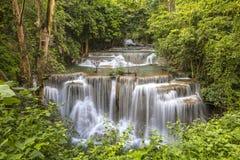 Huai Mae Khamin Waterfall Thailand Royaltyfri Foto