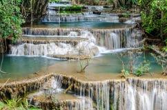 Huai Mae Khamin Waterfall in Thailand Royalty Free Stock Image