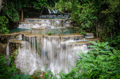Huai Mae Khamin Waterfall in Thailand Stock Images