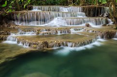 Huai Mae Khamin Waterfall in Thailand Stock Image