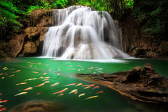 The Huai Mae Khamin Waterfall , Thailand Stock Photos