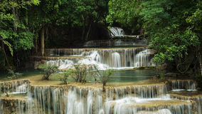 Huai Maekamin Waterfall Royalty Free Stock Photo