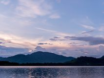 Huai Prue Reservoir An important reservoir in the east. Stock Photos