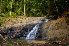 Huai Sakae waterfall in Krabi. Huai Sakae waterfall in Khao Phanom Bencha Krabi southern Thailand. Landscape in real rainforest taken in beautiful reserve in Stock Photo