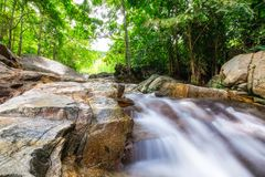 Huai yang waterfall tropical rainforest in national park. At prachuap khiri khan, thailand stock photos