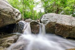 Huai yang waterfall tropical rainforest in national park. At prachuap khiri khan, thailand royalty free stock image