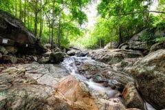 Huai yang waterfall tropical rainforest in national park. At prachuap khiri khan, thailand royalty free stock photography