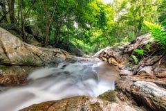 Huai yang waterfall tropical rainforest in national park. At prachuap khiri khan, thailand stock photo