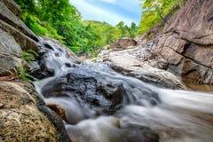 Huai yang waterfall tropical rainforest in national park. At prachuap khiri khan, thailand royalty free stock photo