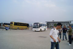 Huaihua, China: bus station Stock Photo
