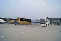 Huaihua, China: bus station Royalty Free Stock Image