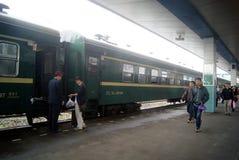 Huaihua, China: train station Royalty Free Stock Photography